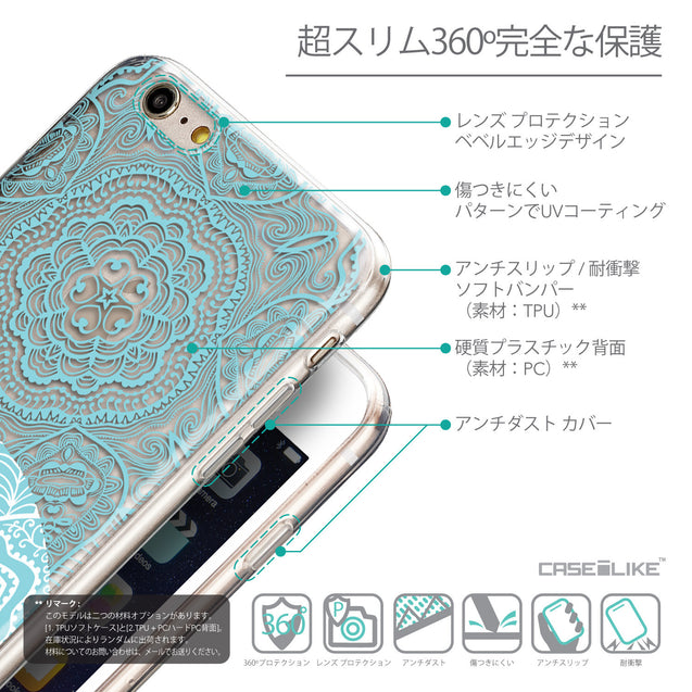 Details in Japanese - CASEiLIKE Apple iPhone 6 Plus back cover Mandala Art 2306