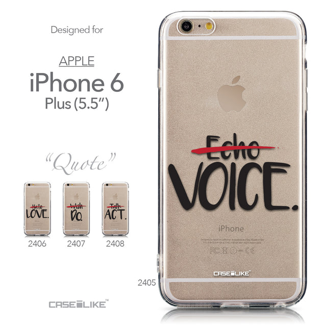 Collection - CASEiLIKE Apple iPhone 6 Plus back cover Quote 2405