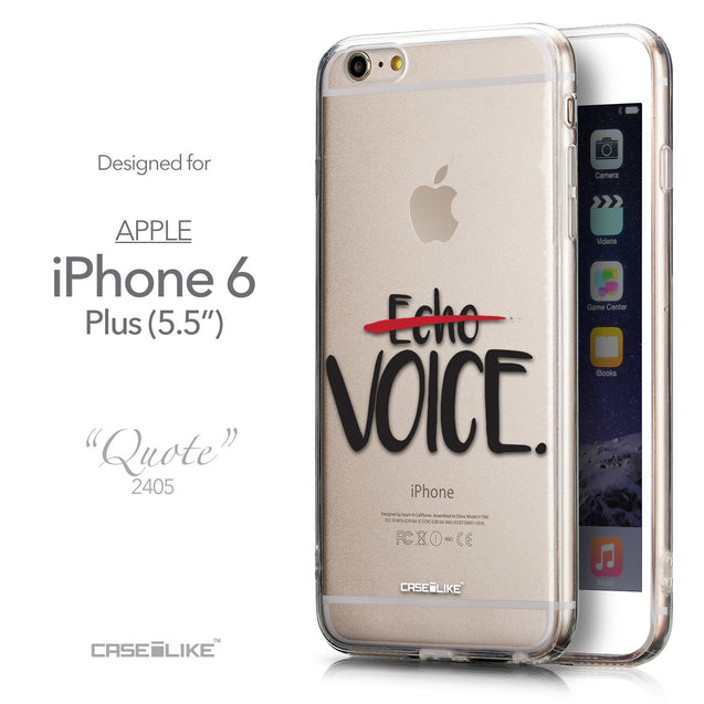 Front & Side View - CASEiLIKE Apple iPhone 6 Plus back cover Quote 2405