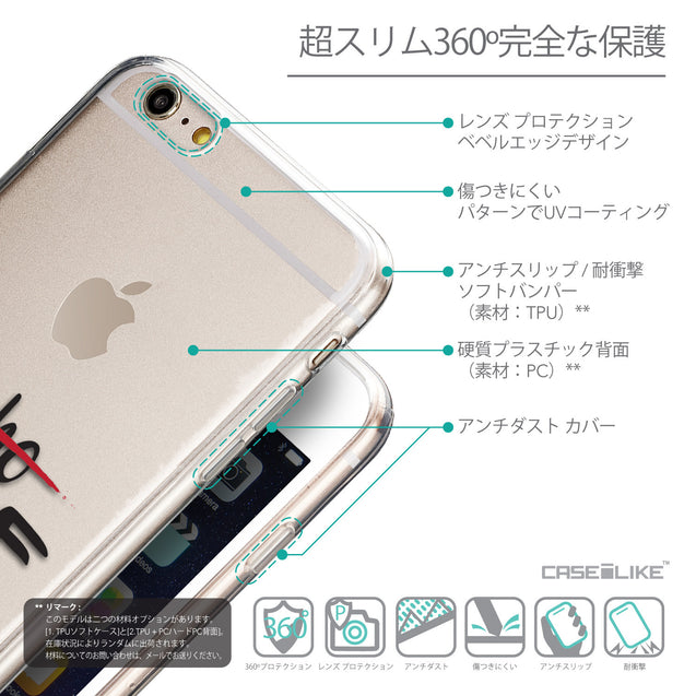 Details in Japanese - CASEiLIKE Apple iPhone 6 Plus back cover Quote 2405