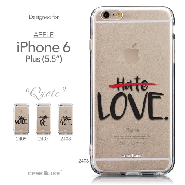Collection - CASEiLIKE Apple iPhone 6 Plus back cover Quote 2406