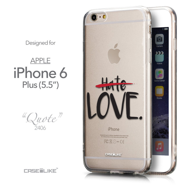 Front & Side View - CASEiLIKE Apple iPhone 6 Plus back cover Quote 2406
