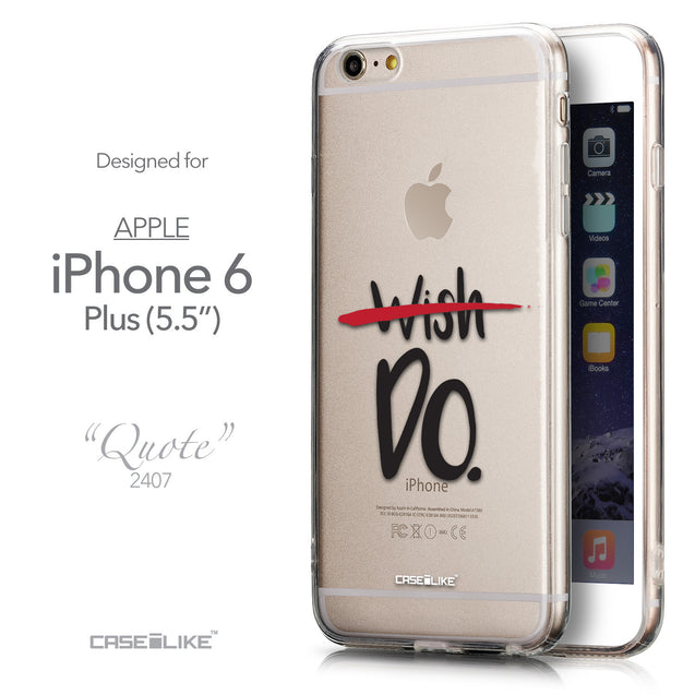 Front & Side View - CASEiLIKE Apple iPhone 6 Plus back cover Quote 2407