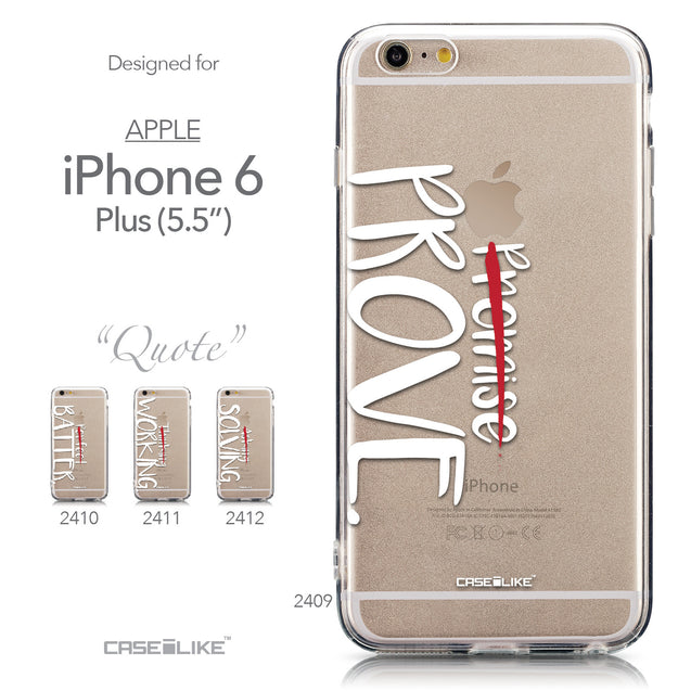 Collection - CASEiLIKE Apple iPhone 6 Plus back cover Quote 2409