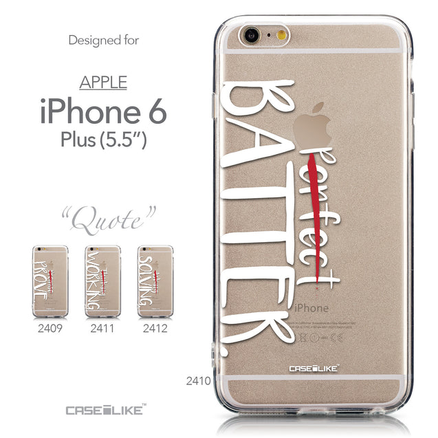 Collection - CASEiLIKE Apple iPhone 6 Plus back cover Quote 2410