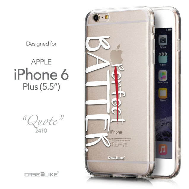 Front & Side View - CASEiLIKE Apple iPhone 6 Plus back cover Quote 2410