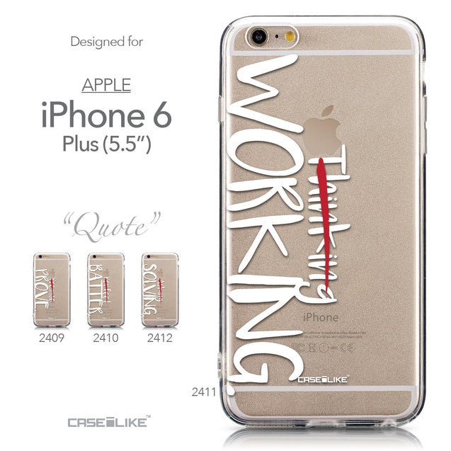 Collection - CASEiLIKE Apple iPhone 6 Plus back cover Quote 2411