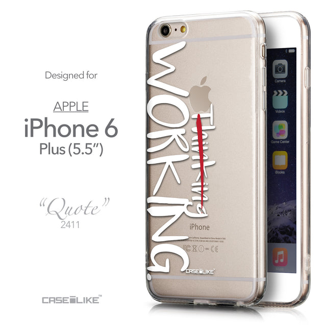 Front & Side View - CASEiLIKE Apple iPhone 6 Plus back cover Quote 2411