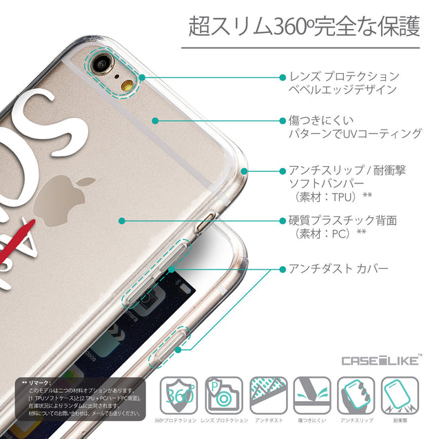 Details in Japanese - CASEiLIKE Apple iPhone 6 Plus back cover Quote 2412