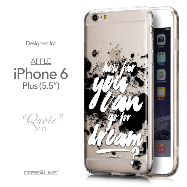 Front & Side View - CASEiLIKE Apple iPhone 6 Plus back cover Quote 2413