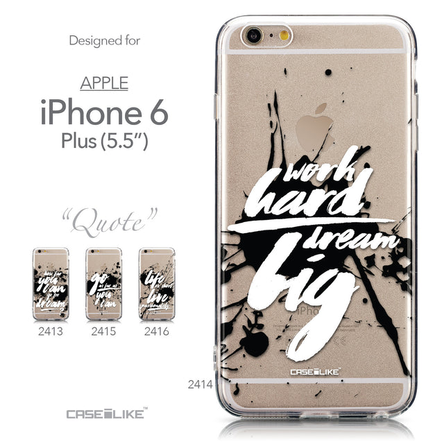Collection - CASEiLIKE Apple iPhone 6 Plus back cover Quote 2414