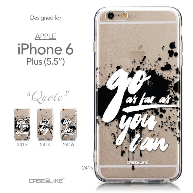 Collection - CASEiLIKE Apple iPhone 6 Plus back cover Quote 2415