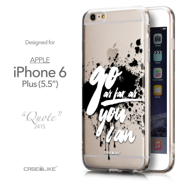 Front & Side View - CASEiLIKE Apple iPhone 6 Plus back cover Quote 2415
