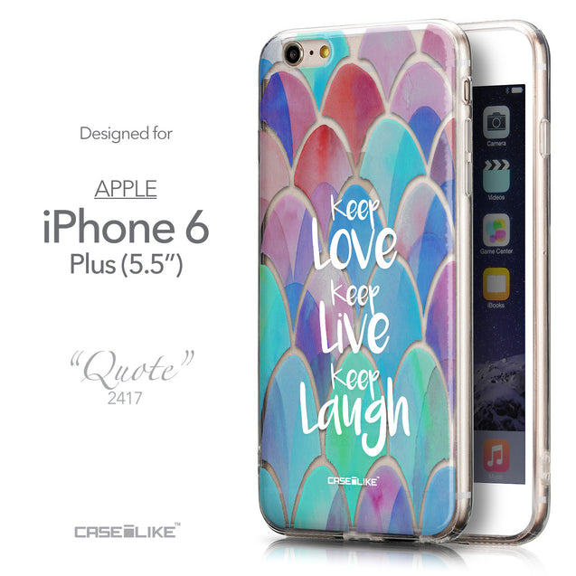 Front & Side View - CASEiLIKE Apple iPhone 6 Plus back cover Quote 2417