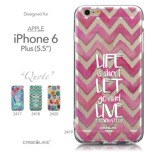 Collection - CASEiLIKE Apple iPhone 6 Plus back cover Quote 2419
