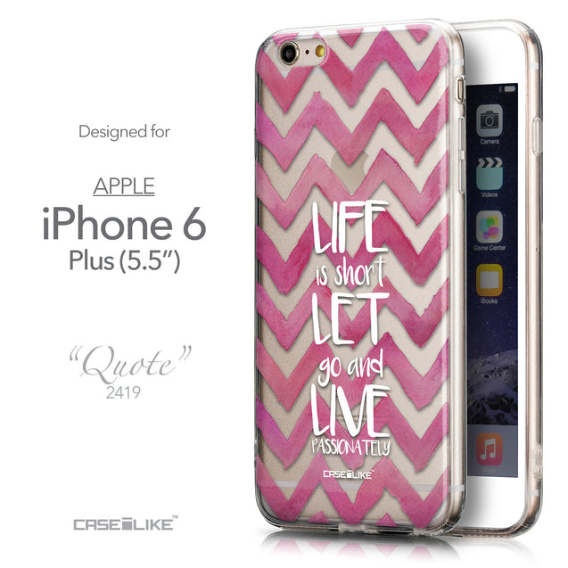 Front & Side View - CASEiLIKE Apple iPhone 6 Plus back cover Quote 2419