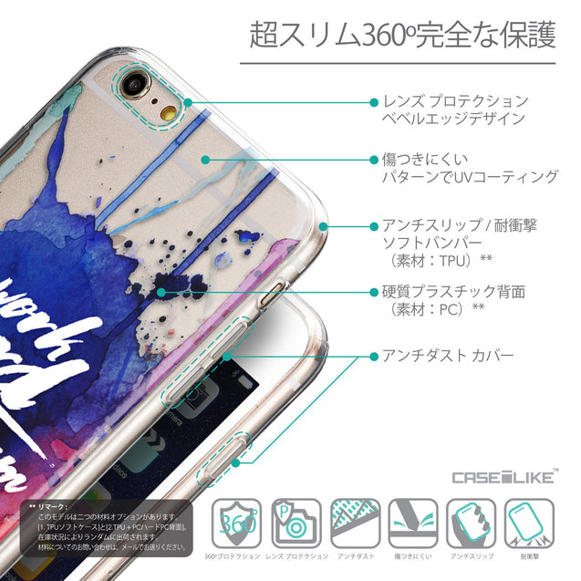 Details in Japanese - CASEiLIKE Apple iPhone 6 Plus back cover Quote 2422