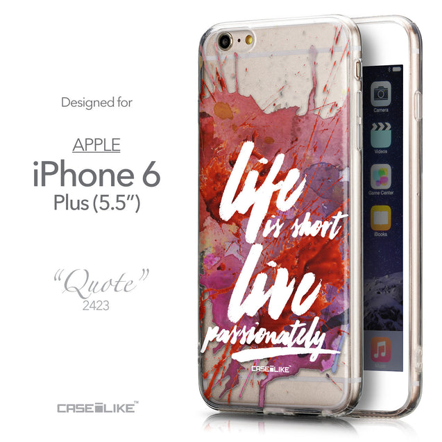 Front & Side View - CASEiLIKE Apple iPhone 6 Plus back cover Quote 2423