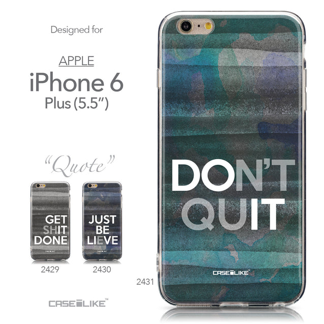 Collection - CASEiLIKE Apple iPhone 6 Plus back cover Quote 2431