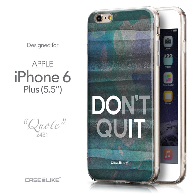Front & Side View - CASEiLIKE Apple iPhone 6 Plus back cover Quote 2431
