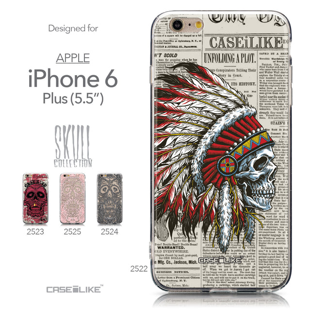 Collection - CASEiLIKE Apple iPhone 6 Plus back cover Art of Skull 2522
