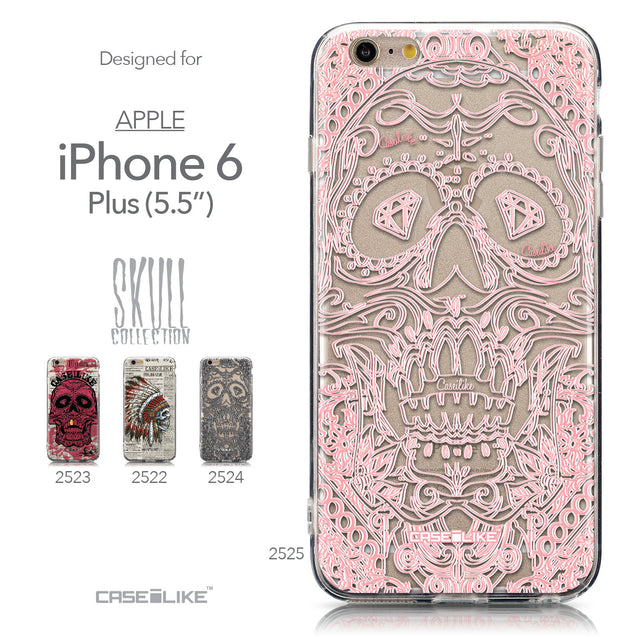 Collection - CASEiLIKE Apple iPhone 6 Plus back cover Art of Skull 2525
