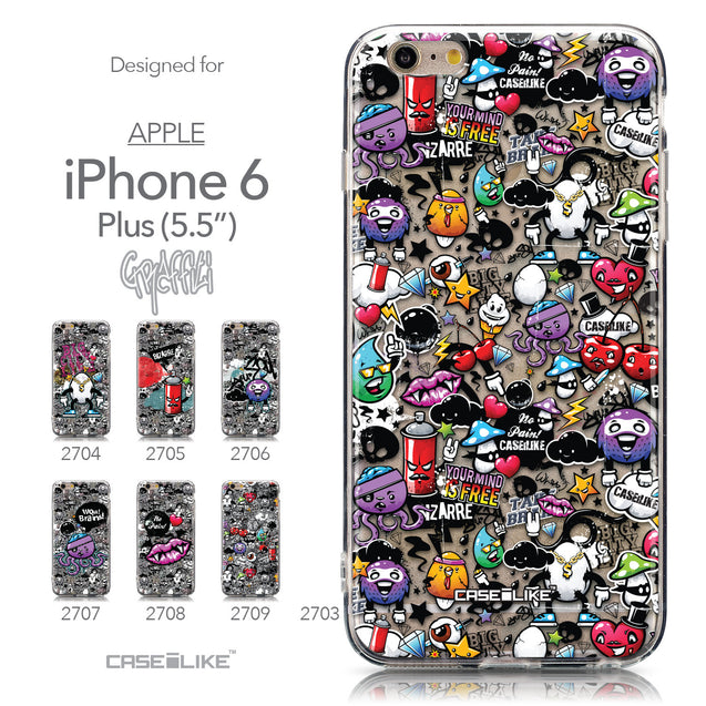 Collection - CASEiLIKE Apple iPhone 6 Plus back cover Graffiti 2703