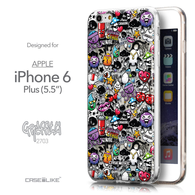 Front & Side View - CASEiLIKE Apple iPhone 6 Plus back cover Graffiti 2703