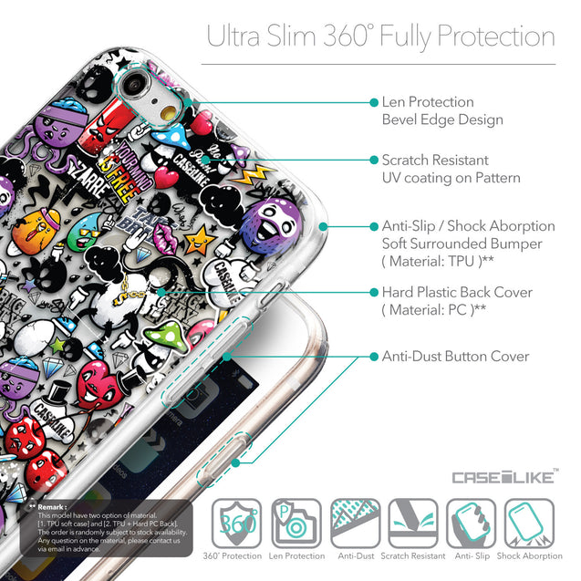 Details in English - CASEiLIKE Apple iPhone 6 Plus back cover Graffiti 2703