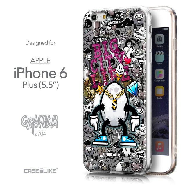 Front & Side View - CASEiLIKE Apple iPhone 6 Plus back cover Graffiti 2704