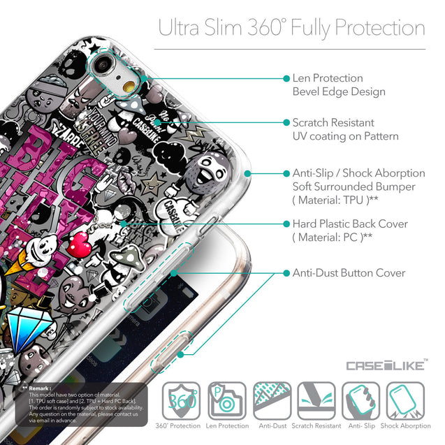 Details in English - CASEiLIKE Apple iPhone 6 Plus back cover Graffiti 2704