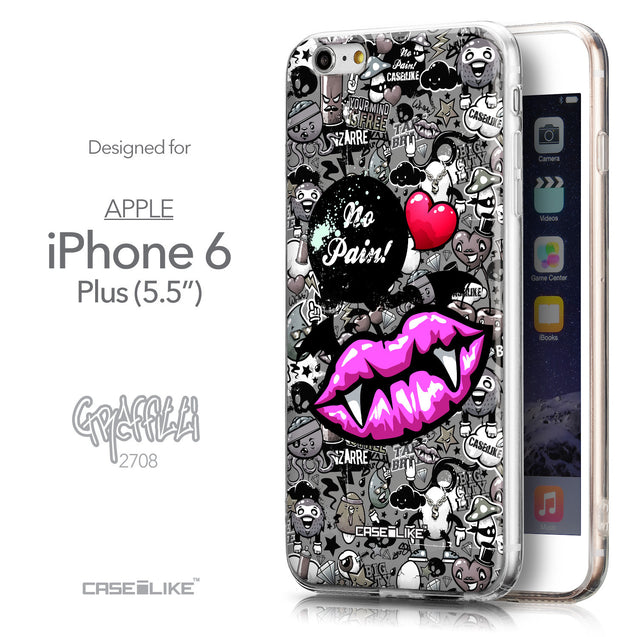 Front & Side View - CASEiLIKE Apple iPhone 6 Plus back cover Graffiti 2708