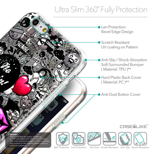 Details in English - CASEiLIKE Apple iPhone 6 Plus back cover Graffiti 2708