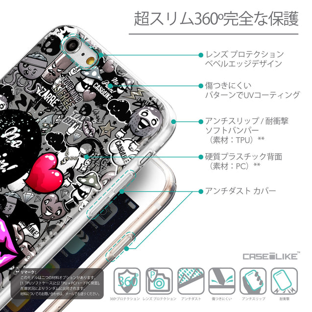 Details in Japanese - CASEiLIKE Apple iPhone 6 Plus back cover Graffiti 2708