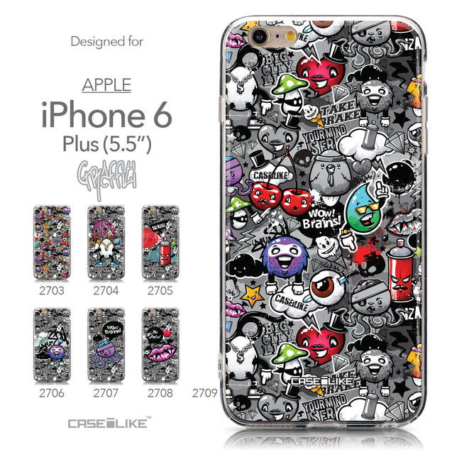 Collection - CASEiLIKE Apple iPhone 6 Plus back cover Graffiti 2709