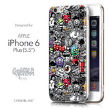 Front & Side View - CASEiLIKE Apple iPhone 6 Plus back cover Graffiti 2709