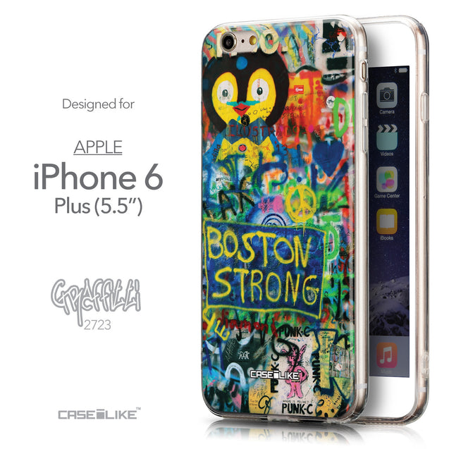 Front & Side View - CASEiLIKE Apple iPhone 6 Plus back cover Graffiti 2723