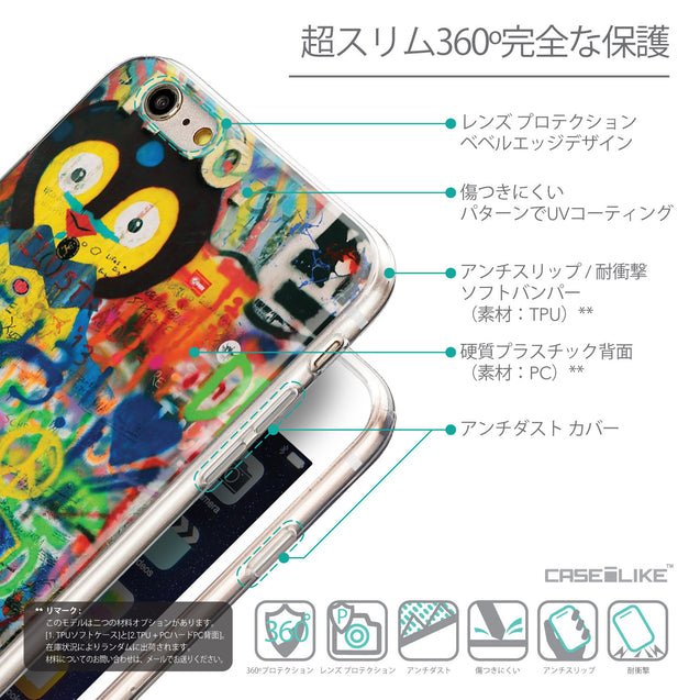 Details in Japanese - CASEiLIKE Apple iPhone 6 Plus back cover Graffiti 2723