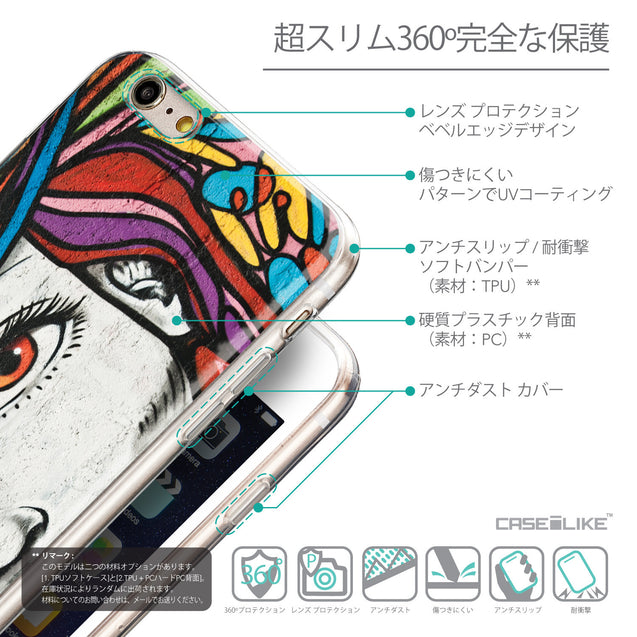 Details in Japanese - CASEiLIKE Apple iPhone 6 Plus back cover Graffiti Girl 2725