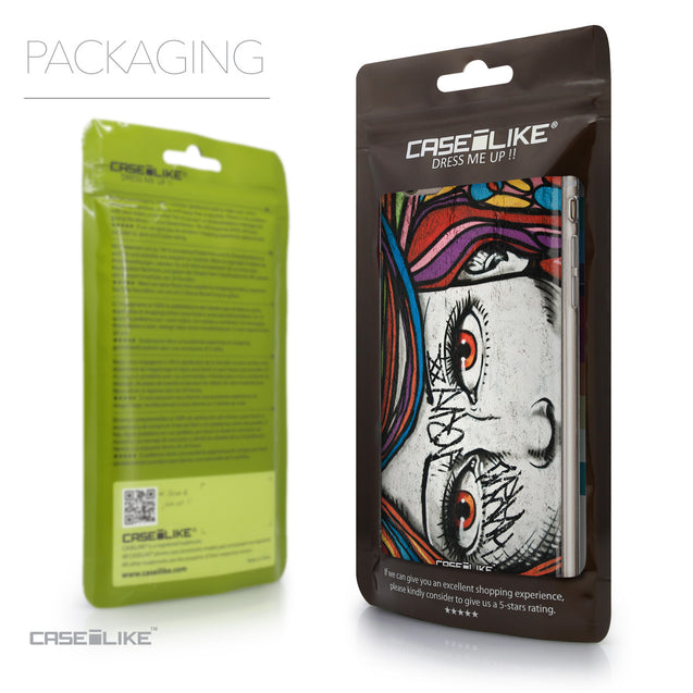 Packaging - CASEiLIKE Apple iPhone 6 Plus back cover Graffiti Girl 2725