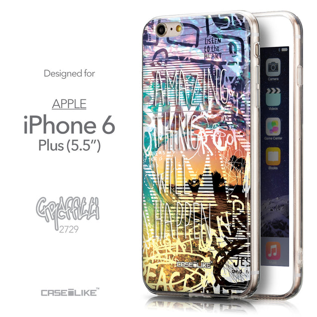 Front & Side View - CASEiLIKE Apple iPhone 6 Plus back cover Graffiti 2729