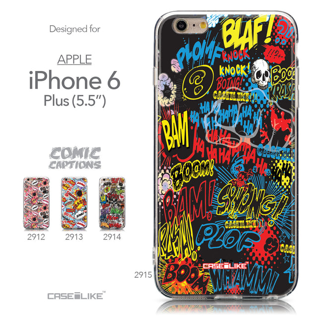 Collection - CASEiLIKE Apple iPhone 6 Plus back cover Comic Captions Black 2915