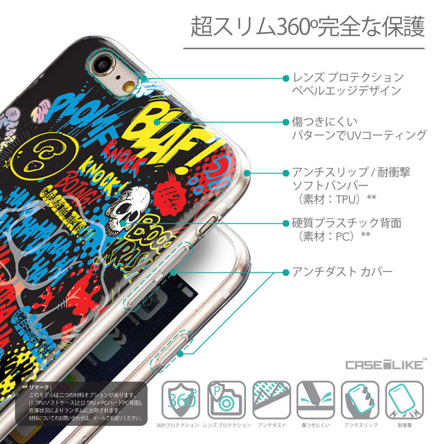 Details in Japanese - CASEiLIKE Apple iPhone 6 Plus back cover Comic Captions Black 2915