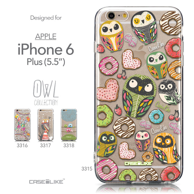 Collection - CASEiLIKE Apple iPhone 6 Plus back cover Owl Graphic Design 3315