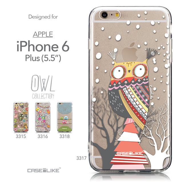 Collection - CASEiLIKE Apple iPhone 6 Plus back cover Owl Graphic Design 3317