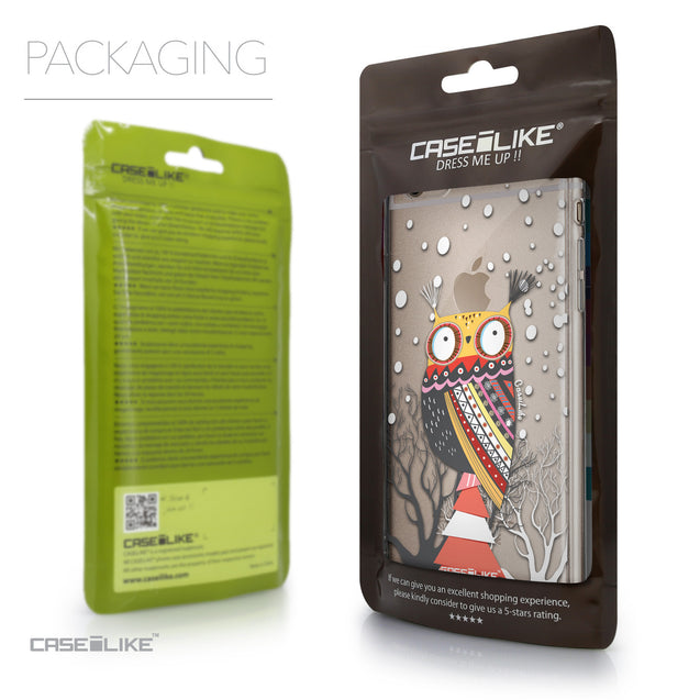 Packaging - CASEiLIKE Apple iPhone 6 Plus back cover Owl Graphic Design 3317