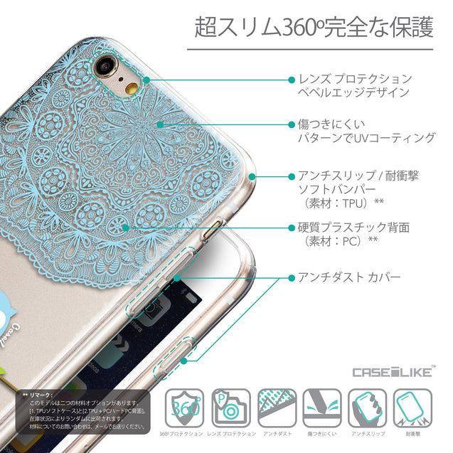 Details in Japanese - CASEiLIKE Apple iPhone 6 Plus back cover Owl Graphic Design 3318