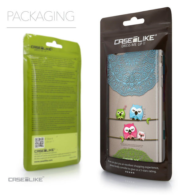 Packaging - CASEiLIKE Apple iPhone 6 Plus back cover Owl Graphic Design 3318