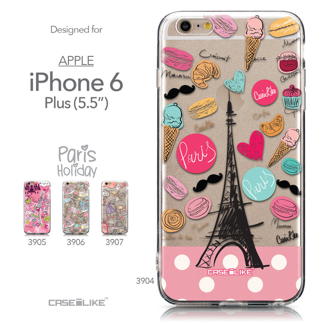 Collection - CASEiLIKE Apple iPhone 6 Plus back cover Paris Holiday 3904