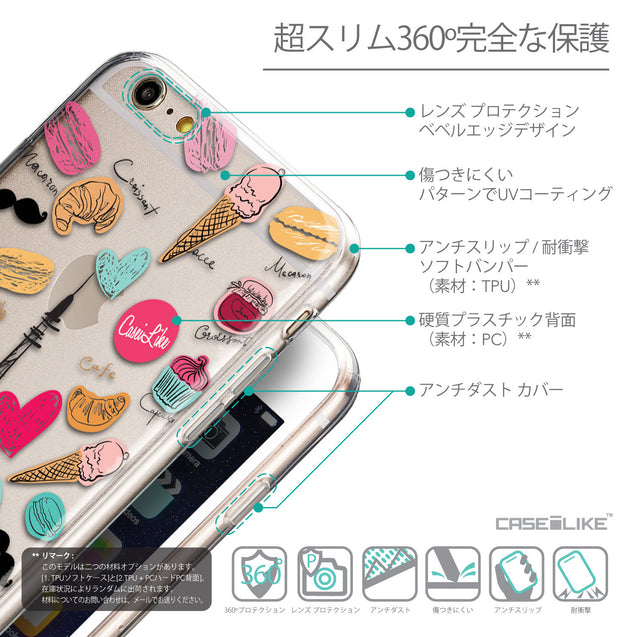 Details in Japanese - CASEiLIKE Apple iPhone 6 Plus back cover Paris Holiday 3904